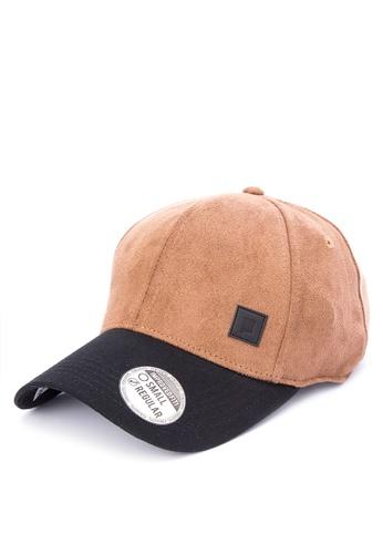 Penshoppe brown Varsity Baseball Cap 70454AC7F2D51EGS_1