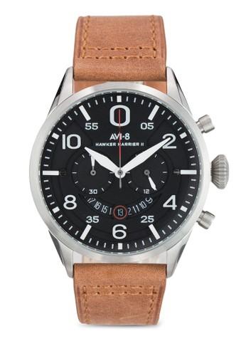 Hawker Harrier II 皮革大esprit home 台灣圓錶, 錶類, 飾品配件