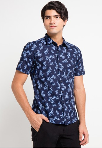 BRITANIA multi and navy Short Sleeve Flower Print Shirt BR202AA0V8YSID_1