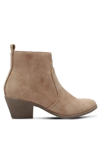 Something Borrowed brown Block Heel Ankle Boots BEB71SH51924D5GS_1