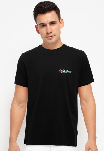 Quiksilver black Arched Bay Short Sleeve Tee A87F5AA58C9C94GS_1
