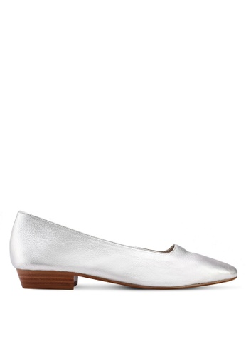 Mango silver Heel Leather Shoes 38BCESH73A26C0GS_1