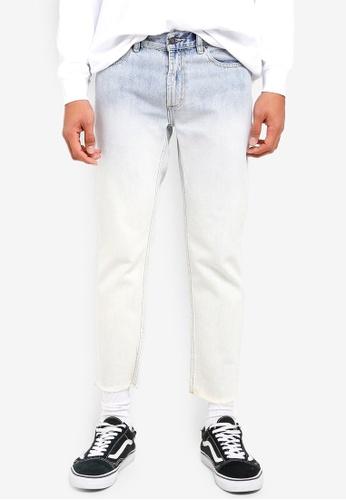 OBEY blue New Threat Cut Denim Jeans 64FBDAA0BCB5FAGS_1