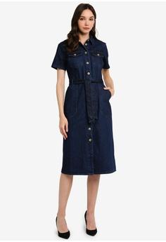 f7d6c33465c Dorothy Perkins blue Indigo Denim Shirt Dress 598A3AA21E86DDGS 1
