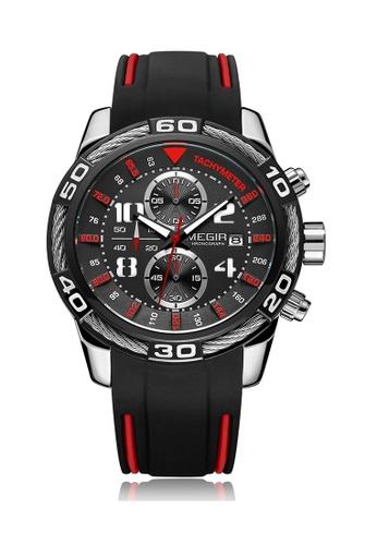 Megir gold Japan Design Seiko Movement  Steel Megir Watch 61950ACDAEFF87GS_1
