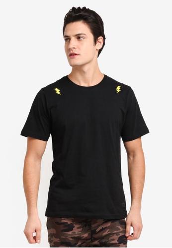 Flesh IMP black Kranz Patches T-Shirt C4A85AAC7D9E98GS_1