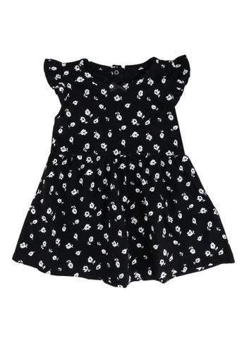 FOX Kids & Baby black Printed Jersey Dress 73C1AKA37C6331GS_1