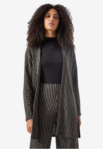 Dorothy Perkins black Black Striped Cardigan 9BDC7AA636B76FGS_1