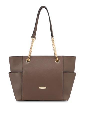 Perllini&Mel brown Faux Leather Tote Bag PE444AC0SIZQMY_1