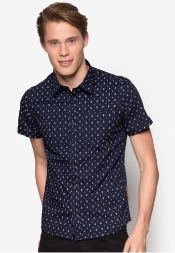 Travis 印花短袖襯衫, 服飾, 印花襯esprit香港分店地址衫