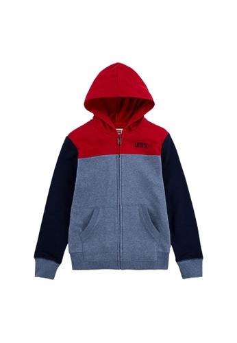 Levi's Kids multi LEVIS Big Boy Short Color Blocked Zip Up Hoodie 22998KAFC8DB8BGS_1