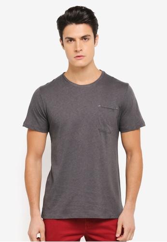ZALORA 黑色 簡約休閒短袖T恤 4EAC1AABC2EFB2GS_1