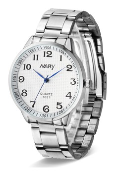 NARY Men's Stainless Quartz Watch - 6031