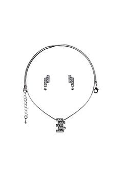 Paris Bijoux ST13344A Set Necklace + Earring - Crystal
