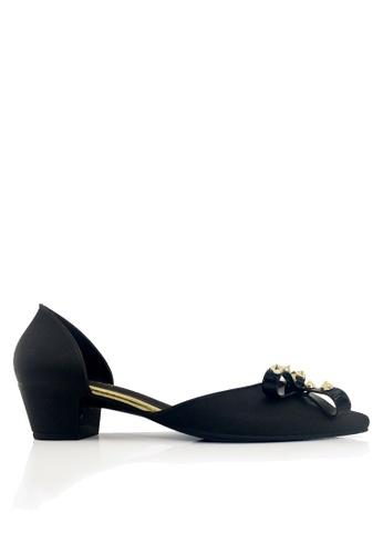 Twenty Eight Shoes black Studded Jelly Low Heels Rain Shoes VR273 FAED2SH87F0877GS_1