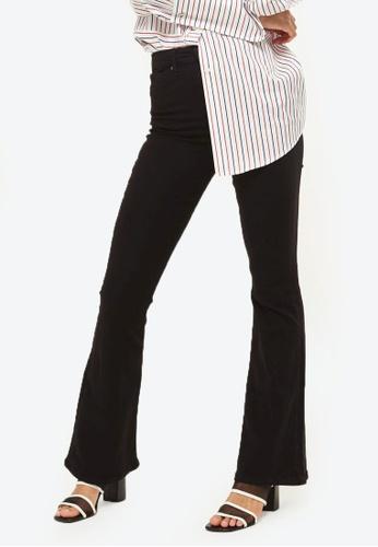 TOPSHOP black MOTO Black Flared Jamie Jeans TO412AA0RY2BMY_1