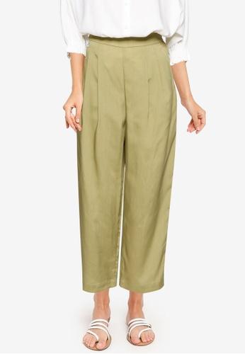 GLOBAL WORK green Woven Pants 61758AA2225EAFGS_1