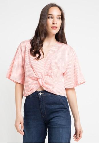 Ninety Degrees orange Pucy Shirt 520DBAA582D18CGS_1