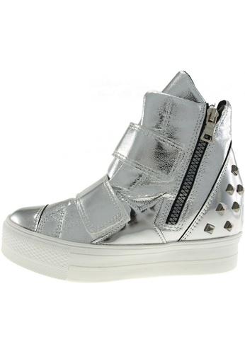 Maxstar 銀色 新款韩国鞋C2-Belt-TC時尚皮革布混合女銀色 US Women Size MA345SH55HCQTW_1