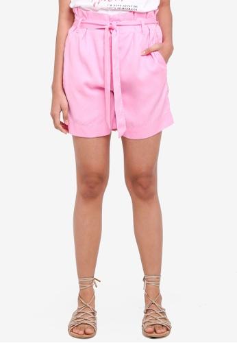 ONLY pink Kira Belt Shorts 9A1D9AA8E6791CGS_1