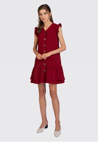 L'zzie red LZZIE GIORGIA DRESS - RED E242DAABC5CA7AGS_1