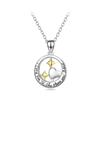 Glamorousky silver 925 Sterling Silver Fashion Simple Heart-shaped Circle Pendant with Necklace C3E9FACD03DA41GS_1