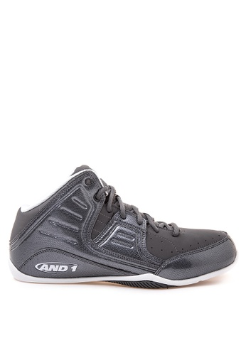 And1 grey and white Rocket 4.0 Basketball Shoes AN510SH67QYEPH_1