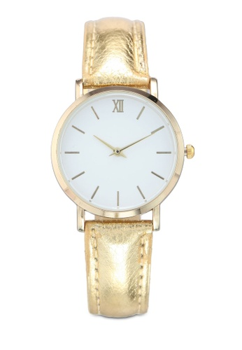 NUVEAU gold Round Face Gold White And Gold Strap Watch 715BEAC2155584GS_1