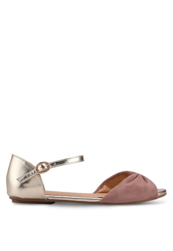 Carlton London beige Two Tone Sandals BEA92SHE3A627EGS_1
