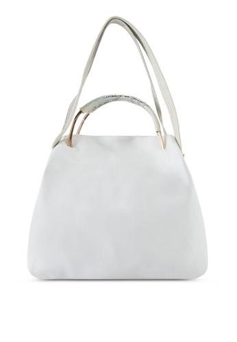 Perllini&Mel white Faux Nappa Leather Top Handle Bag PE444AC63XKIMY_1