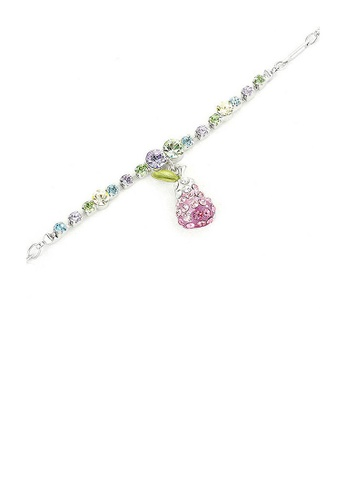 Glamorousky multi Fancy Bracelet with Pear Charm in Multi Color Austrian Element Crystals 889E6AC94DDA9FGS_1