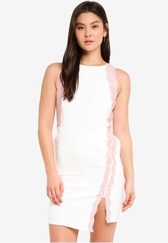Megane white Clair Crochet Hem Dress 3B079AA6D2F0F8GS_1