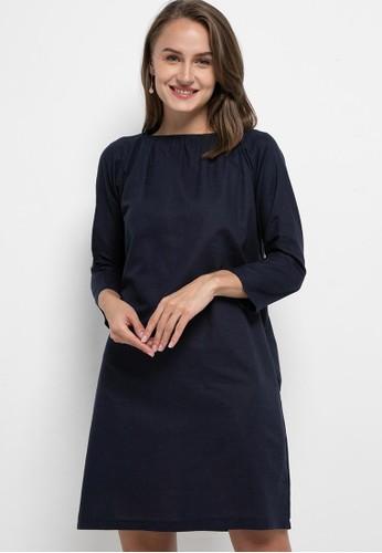 Solene navy Lily Tunic Dress 7CD0BAAF9C98FFGS_1