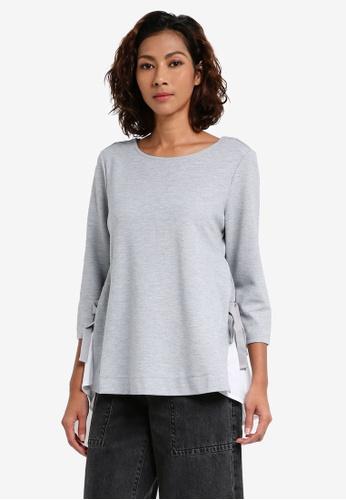ESPRIT grey 3/4 Sleeve Blouse 9AEC9AABCE4636GS_1