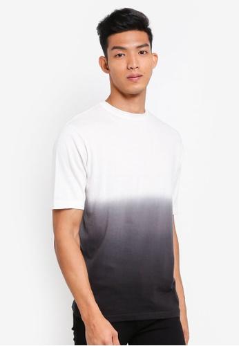 MANGO Man white Cotton Ombre T-Shirt C2DD4AA2D0E5F5GS_1