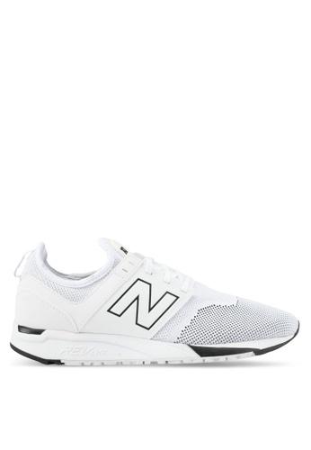 New Balance white 247 Lifestyle Sneakers NE323SH0SXNGMY_1