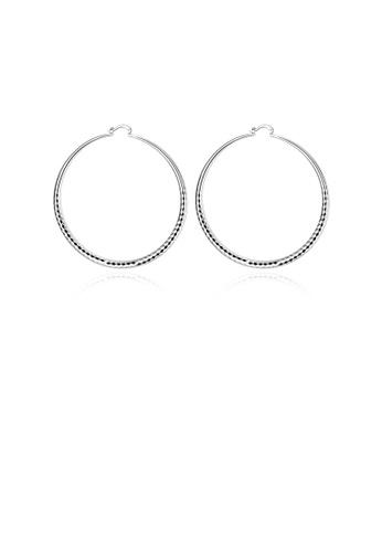 Glamorousky silver Simple and Elegant Geometric Circle Big Earrings 9500BACF3E40B1GS_1