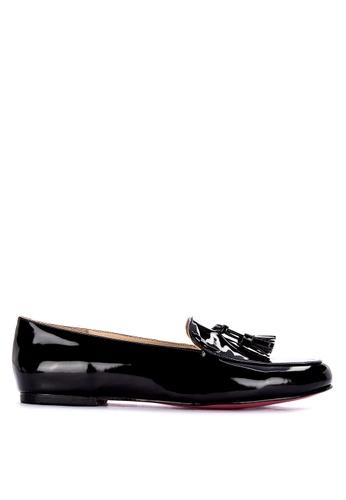 CARMELLETES black Patent Loafers With Tassle 46B50SH9221B5EGS_1