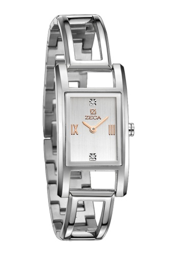 ZECA pink and silver and gold Zeca Watches Ladies Fashion Stainless Steel Analog - 146L Rosegold ZE260AC41SMOSG_1