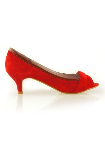 Gripz red Tree Peep Toe Suede Kitten Heel GR357SH98ITXSG_1