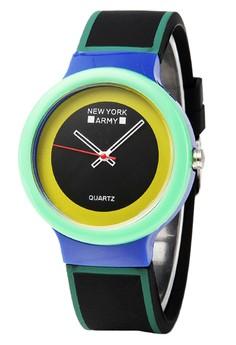 Newyork Army Dark Pop Silicon Watch