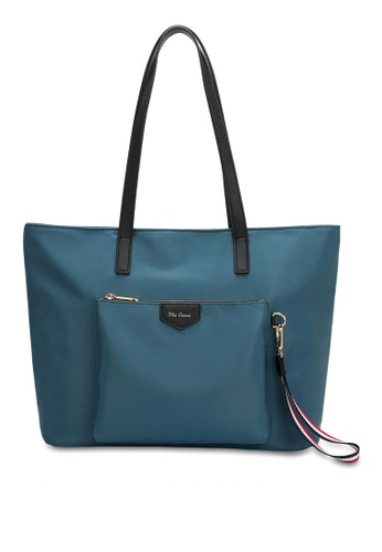 Wild Channel blue Women's Water Resistant Tote Bag / Hand Bag 71D99AC5B8CFBBGS_1