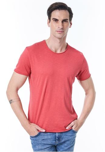 Sisley red Crew Neck T-shirt 4431BAAAF022DAGS_1