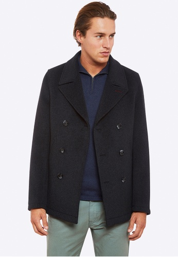 Oxford grey Samuel Pea Coat D2590AA2D36B7DGS_1