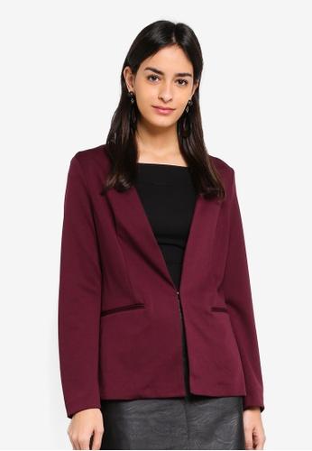 Vero Moda red Gritt Long Sleeve Blazer BE3D5AA37F85EBGS_1