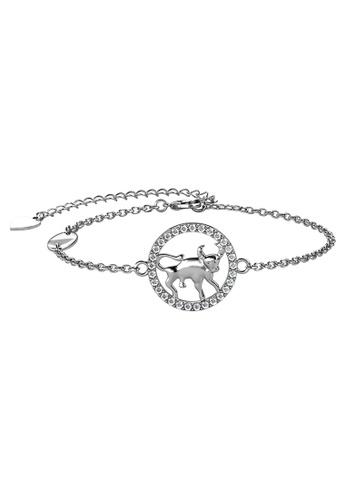 Her Jewellery 白色 Her Jewellery Circlet Taurus Bracelet (White Gold) with Premium Grade Crystals from Austria镶嵌施华洛世奇水晶 096E9AC36922C7GS_1