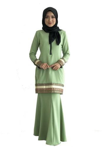 Farosa Kurung Alesha Olive Green from Farosa in Green