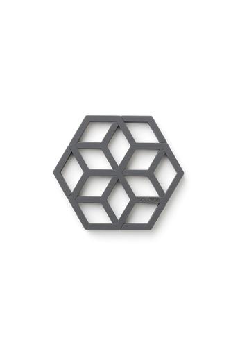 Solcion Honey Tangle Pot Stand - interconnecting trivet set (Ash) 2B9EAHLDA7DA05GS_1