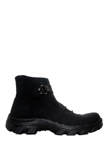 Cut Engineer black Cut Engineer Slip On Zipper Safety Boots Leather Black AECF0SH5DF81F7GS_1