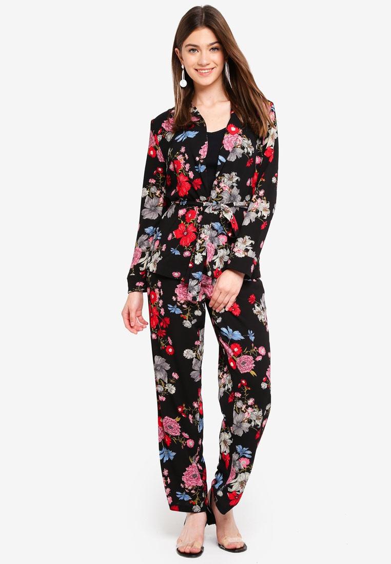 Piping YONG JACQUELINE Edwind Black DE Flower Pants 7pqTwzgq